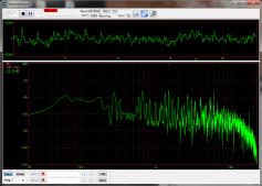 WAVEファイルの周波数スペクトル