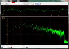 MP3(96kbps)をWAVEにデコードしたファイルの周波数スペクトル